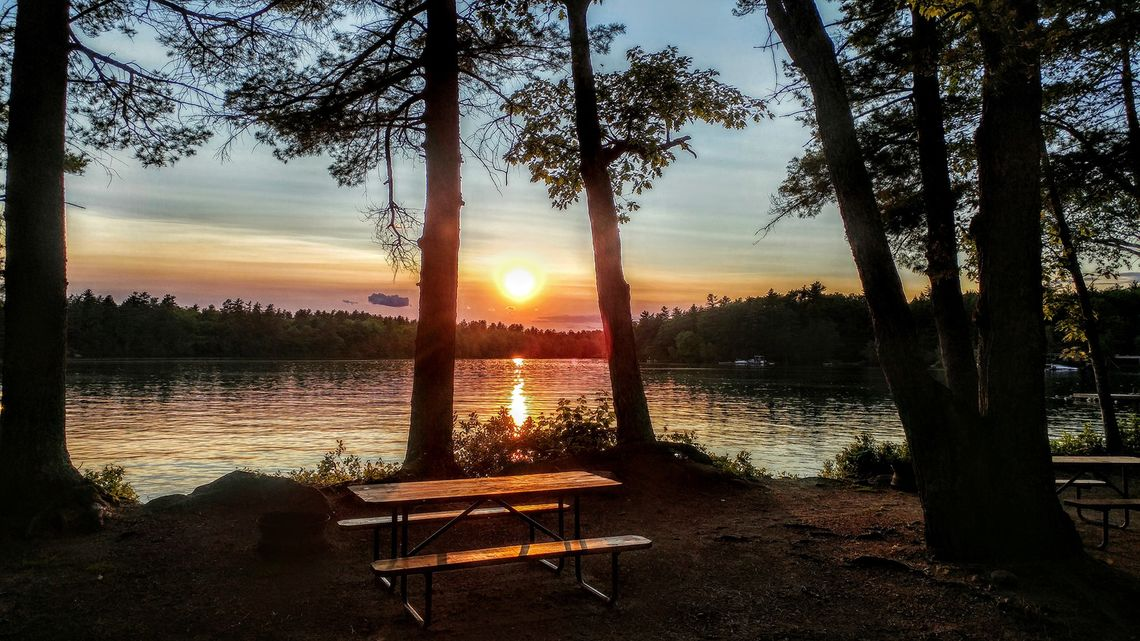 Sunset at Loon's Haven